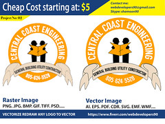 Central Coast Engineering Logo (Graphics Art Studio) Tags: vectorconversion vectorize adobeillustrator rasterimagetovector redrawlogo vectorizelogo