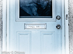 Engraved - Ottawa 08 18 (Mikey G Ottawa) Tags: mikeygottawa canada ontario ottawa street city mailbox letterbox unnecessary label duh engraved vignette edit lightroom spotfilter obvious briefkasten boitesauxlettres