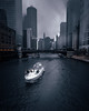 Moody day in the city ! (FARES AL-SHAMMARY) Tags: moody millennium markiv movement moodygrams city chicago canon night fog downtown dark us usa 1740 weather water river riverwalk
