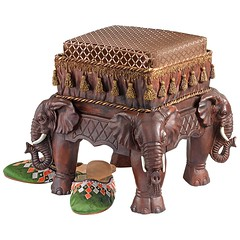 Royal Elephants Designer Footstool (mywowstuff) Tags: gifts gift ideas gadgets geeky products men women family home office
