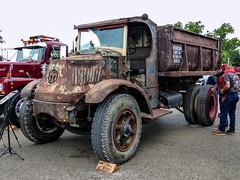 Very Old & Rusty Chain Driven Mack Dump Truck - Tipper (J Wells S) Tags: rustyoldmackdumptruck tipper macktruck historicmacktruck vintagemacktruck rust rusty crusty junk dumptruck aths americantruckhistoricsociety 2018athstruckshowandconvention kentuckyhorsepark lexington kentucky bulldog mackbulldog camiones lorry