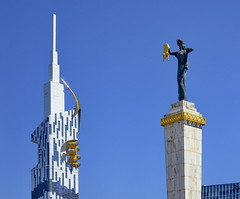 Batum-Georgia (meren34) Tags: georgia batum city statue square tower park skyscraper