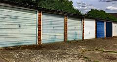 Urbanisation (Mike Cook 67) Tags: urbanurbanurban urbanisation garage metal chariot hertfordshire iphonesc