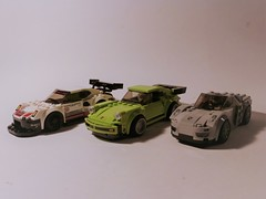 LEGO Speed Champions Porsche Collection (jgg3210) Tags: lego porsche speed champions minifigures 911 turbo rsr 918 spyder sports cars exotic 75888 75910