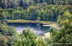 Bass Lake, Blue Ridge Mountains, NC (Grace Pedulla Dillon) Tags: mountains blueridgeparkway blueridgemountains appalachians appalachianmountains clouds northcarolina weather mosesconepark denimking bass lake usa