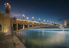 Towards the night (Sizun Eye) Tags: bleuhour twilight dusk paris pontalexandreiii alexanderiiibridge bridge france reflections le longexposure poselongue nikond750 nikon1424mmf28 1424mm nikkor