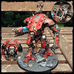 Renegade Armiger Warglaive (21) (KrautScientist) Tags: 40k warhammer40k khorne chaos chaosknight armiger armigerwarglaive renegade conversion kitbash thehound