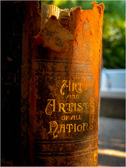The Art of Decay (halfpintharmony) Tags: macromondays decay book ragged old 1895 7dwf art artists nikon d5200 closeup macro outside arkellweeklycompany deteriorating rustcolored afternoonlight goldenhour naturallight sunlit zerfallen pourriture decaer decadimento