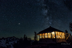 A good cause for insomnia (D. Inscho) Tags: washington northcascades pacificnorthwest mars milkyway firelookout mtshuksan mtbakerwilderness candlelight