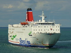 18 08 10 Stena Europe arriving Rosslare (16) (pghcork) Tags: stenaline ferry ferries carferry stenaeurope ireland wexford rosslare ships shipping