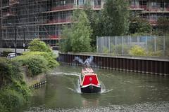 Bow Back River (London Less Travelled) Tags: uk unitedkingdom england britain london eastlondon stratford newham city urban water island sugarhouse river boat barge bow
