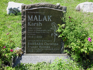The final resting place of Malak Karsh in the Maclaren Cemetery in Wakefield, Quebec