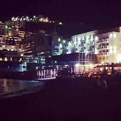 Midnight Lights. (UrosDJ) Tags: night midnight lights beach
