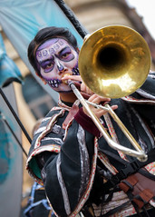 Surge Scotland's Beautiful Bones performing at Glasgow's Merchant City Festival (Gordon.A) Tags: scotland glasgow merchantcity merchantcityfestival august 2018 surge surgescotland beautiful bones trombone orchestra dayofthedead skull face paint makeup street band festival festiwal festivaali festivalen wyl féile festspiele event eventphotography streetevent candid streetphotography music musician musicians streetmusician lady woman people peoplemakeglasgow city citystreets urban arts artsfestival vibrant vibrance colour colours color colourful costume culture entertainer entertainers entertainment atmosphere celebration creative performer performers performance canon eos 750d