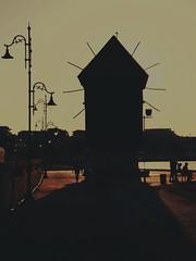 silhouette of the old windmill (vereiasz) Tags: silhouette windmill nessebar bulgaria oldtown phone samsunggalaxys9 vereiasz summer vacation contrejour europe balkans blacksea street lamps seagull nesebar nesebur несебър