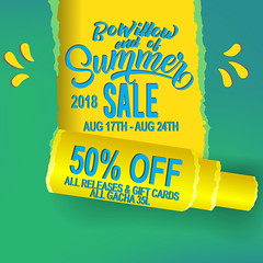 End of Summer Sale @ BoWillow!! (archer.candy) Tags: summer sale hot background lettering banner concept design element flyer graphic greeting illustration isolated label message poster realistic sign template text vector advertising business clearance discount fashion price promotion shop store season special offer travel tourism vacation holiday paper open torn header scroll edge yellow blue green color paint splash