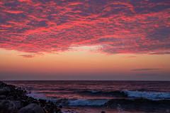 Sky Is Burning (Slav.Burn) Tags: balticsea sea sky skylights skycolors dusk burning waves water pentaxart pentax tamron1750 ngc