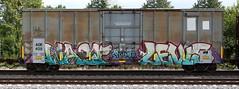 Wasp/Levis (quiet-silence) Tags: graffiti graff freight fr8 train railroad railcar art wasp levis syw mfk boxcar aok aok409240