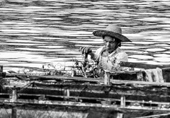 Rowing (A. Yousuf Kurniawan) Tags: rowing boater humanity humaninterest river riverlife riverscape riverside banjarmasin kalimantan borneo streetphotography rurallife blackandwhite monochrome