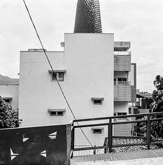 (Jay Kullman) Tags: danshui taipei taiwan blackwhite analoguephotography 120 film mediumformat landscape architecture agfaisolette