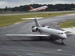 9H-VJY Bombardier Global 6000 VistaJet Malta (Aircaft @ Gloucestershire Airport By James) Tags: luton airport 9hvjy bombardier global 6000 vistajet malta bizjet eggw james lloyds