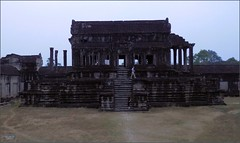 Angkor Wat North Library 20180202_062934 DSCN2366 (CanadaGood) Tags: asia seasia asean cambodia siemreap angkor angkorwat temple people person building architecture archaeology canadagood 2018 thisdecade color colour morning buddhist hindu khmer