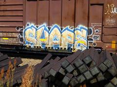 SHAPE (arrowlakelass) Tags: graffiti train freight boxcars steel paint p1190103