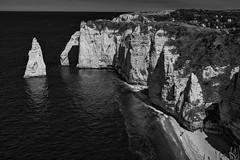Eternal (sdupimages) Tags: travel noirblanc blackwhite coast falaise rock arch arche bw nb seascape landscape paysage normandie etretat mer sea reflection