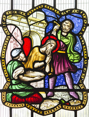 Scarborough, St Mary's church,  window detail (Jules & Jenny) Tags: scarborough stmaryschurch stainedglasswindowdetail