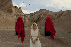 Enemies (Nostalgicidio) Tags: fine art fineart photography bird portrait photoshop photograph photo fantasy dark strange surreal different weird wow scary surrealism creepy conceptual cinematic beauty beautiful nightmare nature awesome enemies fear landscape mountains girl women beuaty