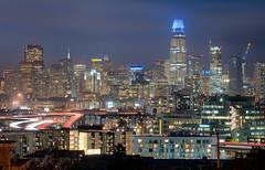 San Francisco Skyline (ADW44) Tags: skyscrapers skyline sanfrancisco california sonya7iii sonyalpha lighttrails potrero hill