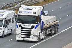 PO17 TLY (panmanstan) Tags: scania ng s730 wagon truck lorry commercial flatbed freight transport haulage vehicle a1m fairburn yorkshire