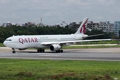 A7-AEF Qatar Airways Airbus A330-302. (Samee55) Tags: bangladesh dhaka dac vghs hsia 2018 planespotting aviation aviationphotography aviationimages aviationinbangladesh airbus airbusaircraft commercialaviation canon eos kiss x8i avgeek psbd a330 qr qatar a7aef