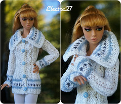 Hand made jacket for Fashion Royalty Poppy Parker (electraere) Tags: fr2 fashionroyalty poppyparker dolls12 doll knitingdoll knitting clothes