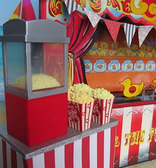 2. Popcorn goodness (Foxy Belle) Tags: doll barbie vintage carnival summer circus food uniform work 16 scale miniature dollhouse dolls diorama playscale