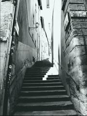 12 (laet'stravel) Tags: stairs escaliers old vieux vintage city town ville promenade walks france blackandwhite noiretblanc