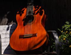 My Old Guitar (Explored 23.6.2018) (neil 36) Tags: spanish guitar classical nottingham ng5 0hw capricho arabe francisco tarrega music strings bridge fret board frets varnish