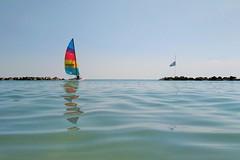 riflessi (N I C K ....1 8 2 8) Tags: blu boat barca beach mare men sea sun riflessi sonyz1cameraphone