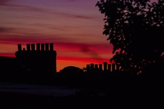 Chimney pot sunset (Cornywall) Tags: beautiful red canon100d canon pots chimney cornwall sunset