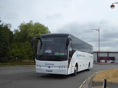 Whitestar YJ16 EHX on Rail Replacement, Roundhouse Rd, Derby (1) (sambuses) Tags: whitestar yj16ehx railreplacement