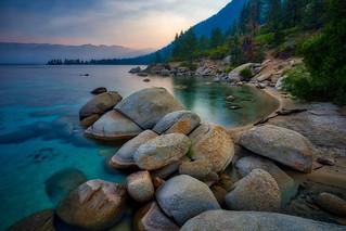 Morning on Lake Tahoe.