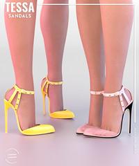 EQUAL - Tessa Sandals (EQUAL SL) Tags: secondlife shoes heels high equal equal10 maitreya slink belleza mesh