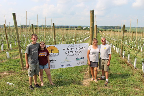 The Chuck Rasch Family of Windy Ridge Orchards.