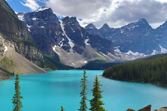 My favorite place on earth! (bbosica20) Tags: banffnationalpark alberta albertacanada morainelake glacicallakes beautiful adventure mountain rockymountains