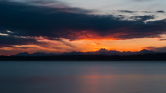 Sunset at Discovery Park (ValeTer_) Tags: sky reflection afterglow sunset horizon water loch calm atmosphere dawn nikon d7500 discovery park seattle usa wa puget sound landscape nature discoverypark pugetsound