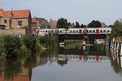 Spoorbrug @ Veurne (Peter Van Gestel) Tags: lijn ligne 73 nmbs sncb spoor brug pont ferroviare feurnes veurne canal kanaal nieuwpoort