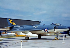 XD330   Supermarine Scimitar F.1 [Unknown} (Royal Navy) RNAS Yeovilton 26/06/1964 (raybarber2) Tags: approach cnunknown cancelled codedr159 egdy flickr jetaircraft jetfighter johnbabbagecollection planebase r159 slide ukmilitary unknown xd330 brokenup