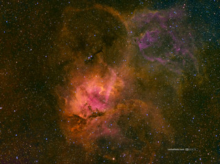 The Lion Nebula (Sh2-132) in HSOrgb
