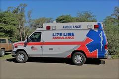 Life Line Ambulance (AMR) (ashman 88) Tags: lifeline amr americanmedicalresponse paramedic medic ambulance ford 44thannualwatsonlakeantiquecarshow