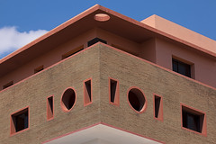 Geometry in Architecture (jarhtmd) Tags: africa morocco marrakesh canon eos70d canon70200f4l architecture building bldg bldgdetail circle square facade window